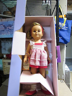 Mattel CHATTY CATHY DOLL Talks 1998 Reproduction Red Dress MIB  WORKS
