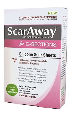 Scaraway C-Section Scar Treatment Strips Narbenheilungspflaster - Kaiserschnitt