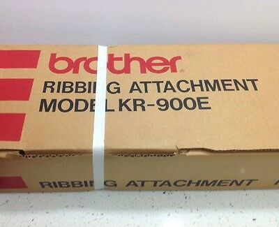BROTHER Ribbing Attachment Model KR-900E-New Sealed/Strapped Box-Made in Japan