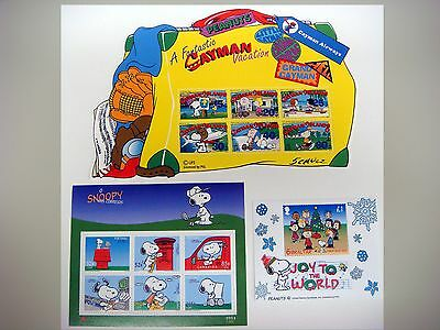 SNOOPY STAMPS PEANUTS CHARLIE BROWN CHARLES SCHULZ COLLECTION OF 3 SHTS snpy5