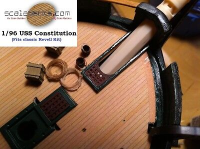 """Wood Deck fits 1/96 USS Constitution """"Old Ironsides"""" (Revell) by Scaledecks.com"""