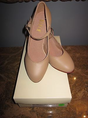 Bloch Character Shoe Tan  #SO306L Size 5M  2.5 in heel New with Box