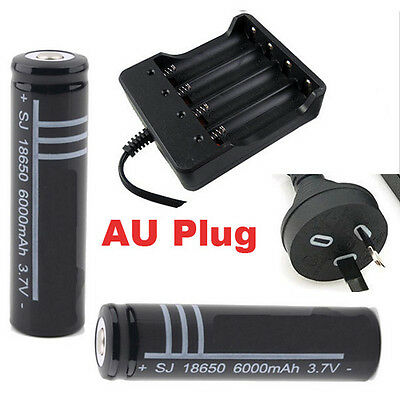 2/4/6/8/10PCS 18650 Rechargeable Battery and Battery Charger