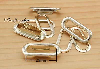 eyelets metal with washer grommets light gold oval 40 sets 25 mm AT9