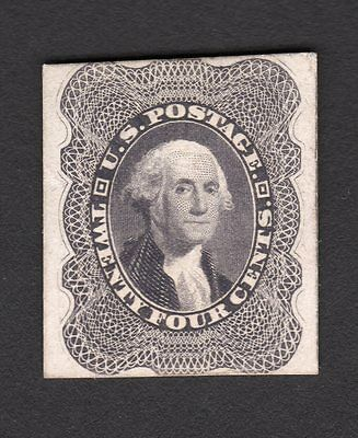 US Sc# 37 Proof Stamp on hard card - Great Item!