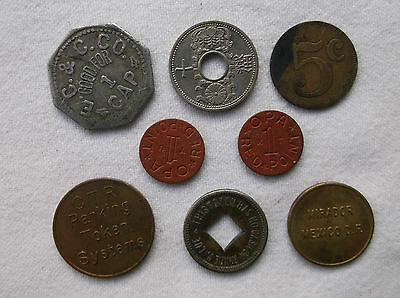 Antique Tokens & Coins - OPA Red Points, E C & C, TOLEDO Mint, Transit Tokens ++