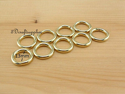 metal O rings O-ring purse ring connector light gold 12mm 1/2 inch 18pcs AT35