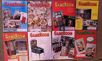 Gameroom Magazines: 1994, 8 Issues All Complete Great Shape