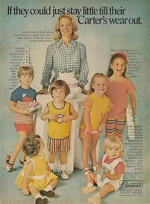 Carter's Children's Clothing 1973 Magazine - Print Ad
