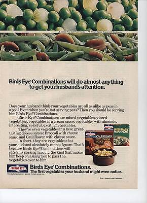 Birds Eye Combinations 2-page 1977  Magazine Print  Ad