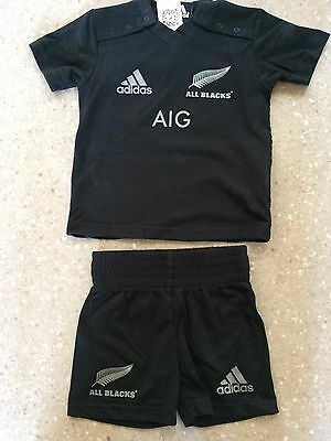 All Blacks Infants Home Replica Jersey & shorts Size 6-9M