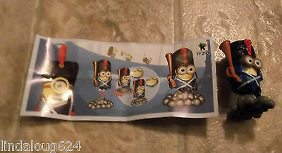 Minion 2015 Kinder Surprise Limited Edition Canada Toy Soldier  FF294 NEW