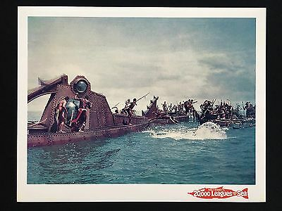20,000 Leagues Under the Sea Original NAUTILUS Lobby Cards set of 2 DISNEY