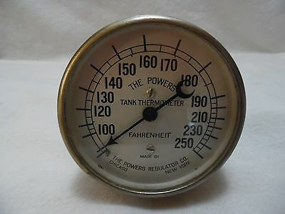 VTG. POWERS THERMOMETER GAUGE by POWERS REGULATOR CO. / CHICAGO - NEW YORK