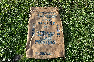Vintage / Retro Hessian Potato Sack Bag. Thorpdale Vic  Collectable