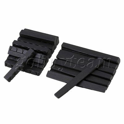 Black Ebony Bridge Saddle and Nut for 6 String Classical Guitar Set of 50