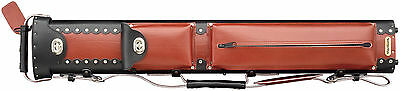 New Vincitore 2x4 Leather Pool Cue Case Burgundy/Black