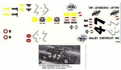 Fred Cady Decal #644 To Do The 1957 Nalley Chevrolet #47 Driven By Jack Smith