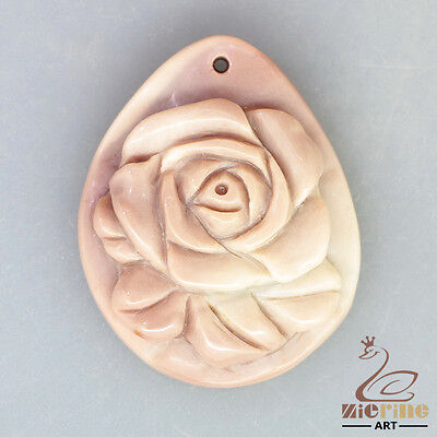 Hand Carved Flower Fashion Necklace Pendant Bead Zl10 00665