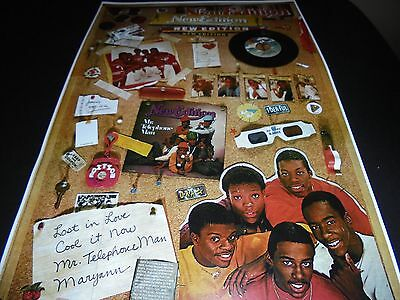 NEW EDITION PROMOTIONAL POSTER MCA RECORDS  ( Excellent)