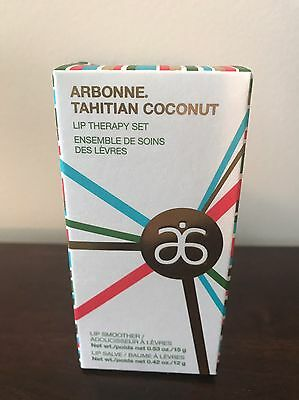 Arbonne Tahitian Coconut Lip Therapy Set