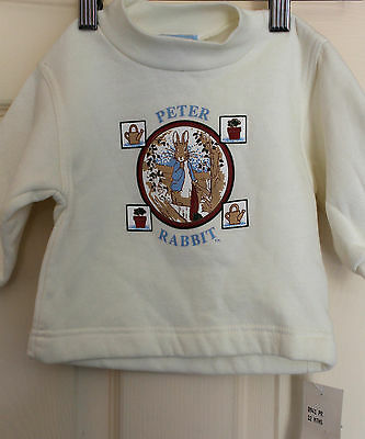 New with tags PETER RABBIT baby's Windcheater/long sleeve Top size 0  NEW