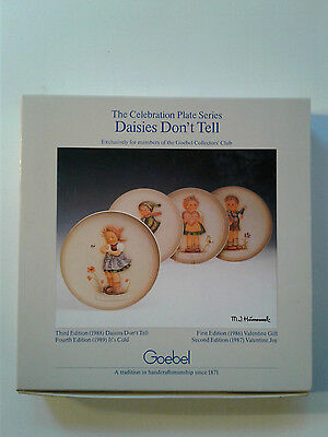 "Hummel Goebel The Celebration Plates Series ""daisies Dont Tell"" 1988"