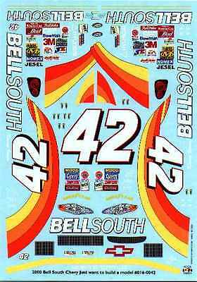 Decal To Do The 2000 #42 Bellsouth Monte Carlo JWTBM
