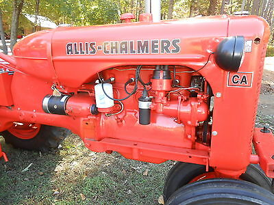 Vtg 1951 Restored Allis Chalmers CA Tractor, 25 HP, 4 sp, Runs Great Collectible