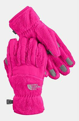 NWT The North Face 'Denali' Thermal Gloves (Girls) in Razzle Pink [LARGE]