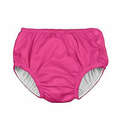 i play. Baby Snap Reusable Absorbent Swim Diaper, Hot Pink, 18 Months
