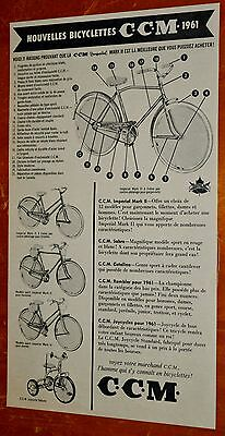 French 1961 Ccm Bicycles Imperial Mark Ii Sabre Rambler Catalina Bike Ad - 1960S