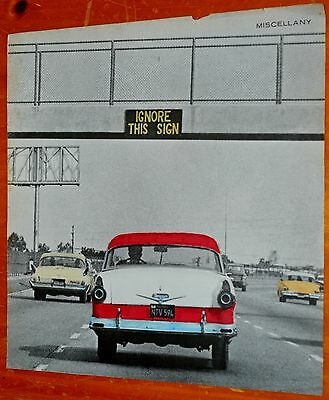 60s PICTURE IGNORE THIS SIGN 1955 FORD FAIRLANE 1960 CHRYSLER 1958 CHEVY DEL RAY