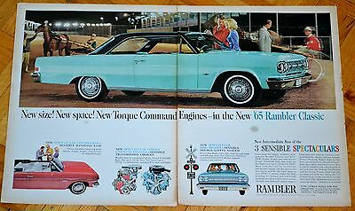 1965 Rambler Classic Coupe & Convertible Large Ad /vintage American 60S Amc