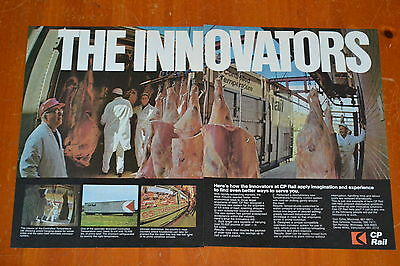 1970 Cp Canadian Pacific Ad - Shipping Meat By Reefer Box Car / Refrigerated