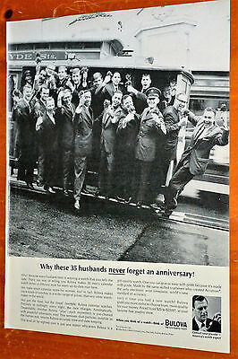 35 Husbands On San Francisco Cable Car For 1964 Bulova Watch Ad - Vintage Retro
