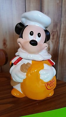 VINTAGE Chef Mickey Mouse WALT DISNEY Hoan COOKIE JAR Flour CANISTER Kitchen