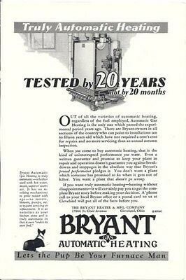 Vintage Print Ad Bryant Gas Automatic Heating 1929
