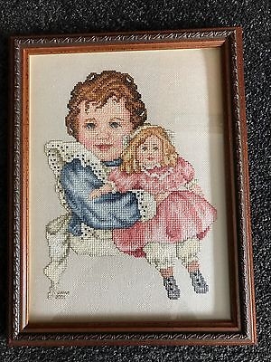 Professionally Framed Completed Cross Stitch