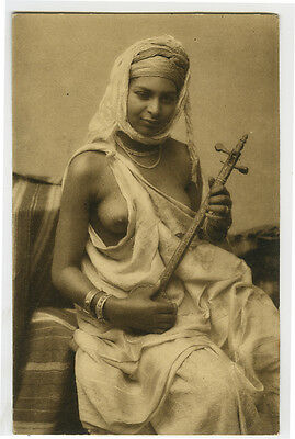 c 1908 French North Africa NUDE ETHNIC African Beauty risque photo postcard