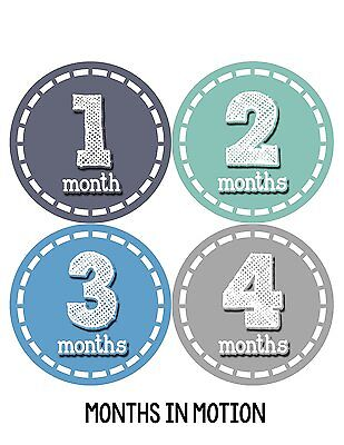 Months in Motion 103 Monthly Baby Stickers Baby Boy Milestone Age Sticker Photo