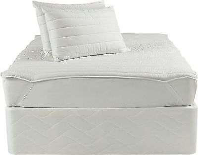 Silentnight Quilted Mattress Topper and Pillow Set - Single.