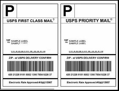 (50) 8.5 x 5.5 Half-Sheet Self-Adhesive Shipping Labels eBay Amazon UPS USPS