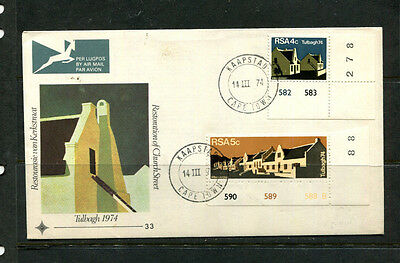 South Africa 1974 Fdc Tulbagh First Day Stamp Cover