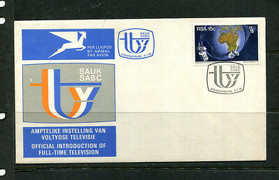 South Africa 1976 Fdc Sabc Television First Day Stamp Cover