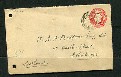 South Africa 1915 Kgv Ppe Embossed Stamp Cover To Scotland Uk