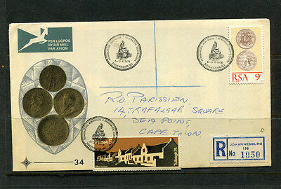 South Africa 1974 Fdc Registered First Day Stamp Cover