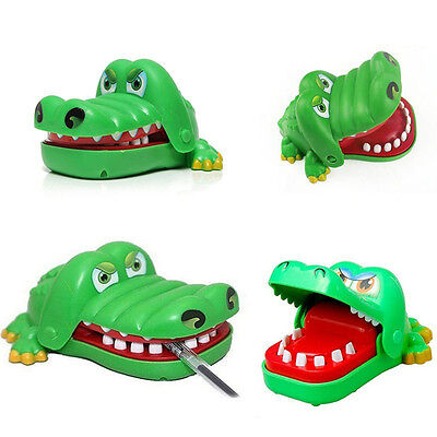 Children Kids Funny Big Mouth Dentist Bite Finger Game Crocodile Toy Joke Gags