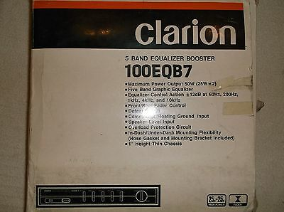 Old School Clarion 100Eqb7,   Rare Equalizer Booster!!   5- Band Eq New In Box!!