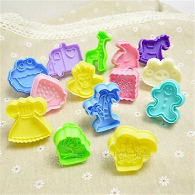 DIY 3D Cookie Biscuit Cutter Stamp Baking Mould Fondant Cake Sugar Craft GZ